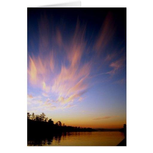 Paisaje del lago Ladoga Felicitación