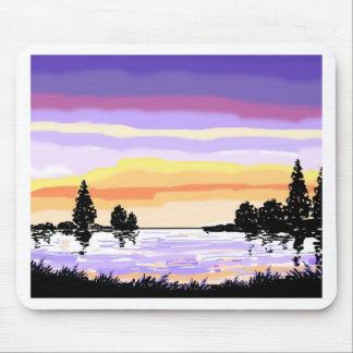 Paisaje del lago sunset alfombrilla de ratón