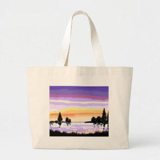 Paisaje del lago sunset bolsas