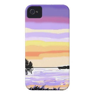 Paisaje del lago sunset Case-Mate iPhone 4 cobertura