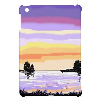 Paisaje del lago sunset