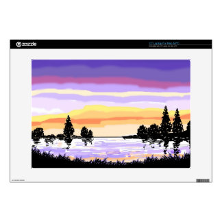 Paisaje del lago sunset skins para 38,1cm portátiles