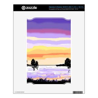 Paisaje del lago sunset skins para elNOOK