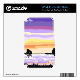 Paisaje del lago sunset iPod touch 4G skin