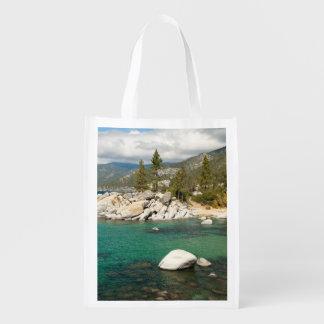 Paisaje del lago Tahoe Bolsas Para La Compra