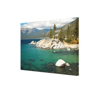 Paisaje del lago Tahoe Impresiones De Lienzo