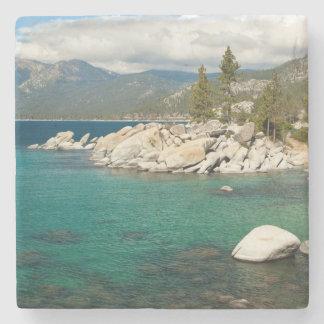 Paisaje del lago Tahoe Posavasos De Piedra