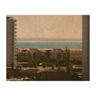 paisaje del mar flanqueado papel de corcho para fotos