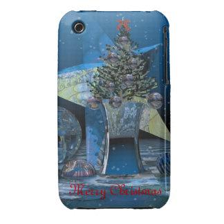 Paisaje del navidad con el caso 3G/3GS del iPhone iPhone 3 Fundas
