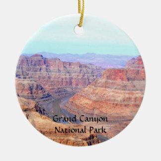 Paisaje del oeste del borde del parque nacional adorno navideño redondo de cerámica