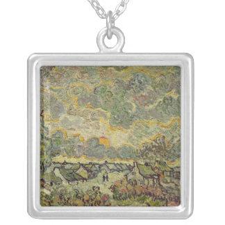 Paisaje del otoño, 1890 colgante cuadrado
