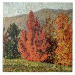 Paisaje del otoño, c.1903 (aceite en lona) azulejo cuadrado grande
