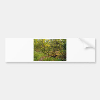 Paisaje del otoño pegatina de parachoque