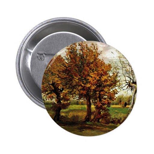 Paisaje del otoño con cuatro árboles de Van Gogh Pins