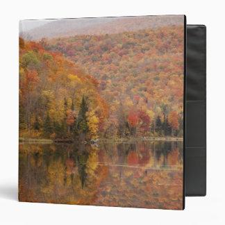 """Paisaje del otoño con el lago, Vermont, los Carpeta 1 1/2"""""""