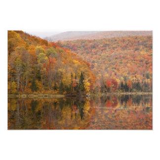 Paisaje del otoño con el lago, Vermont, los E.E.U. Fotografia