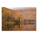Paisaje del otoño con el lago, Vermont, los E.E.U. Impresión Fotográfica