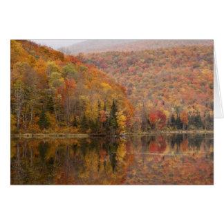 Paisaje del otoño con el lago, Vermont, los E.E.U. Tarjeta De Felicitación