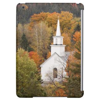 Paisaje del otoño con la iglesia, Vermont, los E.E