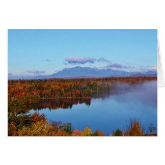 Paisaje del otoño de Mt.Katahdin Tarjeta De Felicitación
