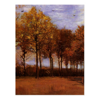 Paisaje del otoño de Van Gogh, bella arte de la Tarjetas Postales
