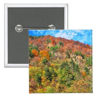 Paisaje del otoño pin cuadrada 5 cm