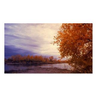 Paisaje del otoño tarjetas de visita