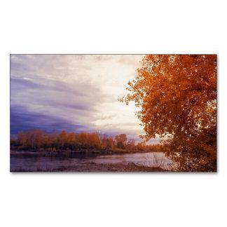 Paisaje del otoño tarjetas de visita magnéticas (paquete de 25)