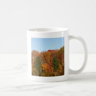 Paisaje del otoño taza