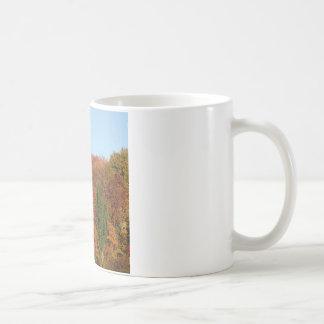 Paisaje del otoño taza de café