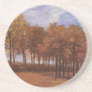 Paisaje del otoño - Vincent van Gogh Posavasos Diseño