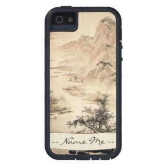 Paisaje del paisaje de la pintura de Sumi-e del iPhone 5 Fundas