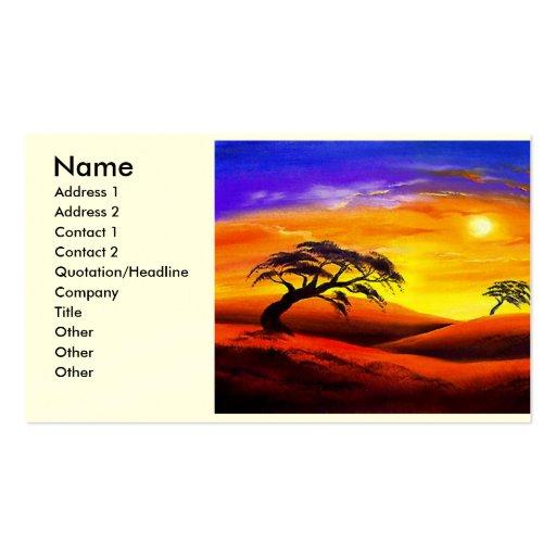 Paisaje del paisaje de la puesta del sol - multi tarjeta de negocio