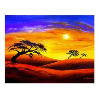 Paisaje del paisaje de la puesta del sol - multi tarjeta postal