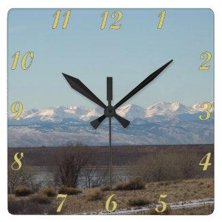 Paisaje del parque de estado de Cherry Creek Reloj De Pared
