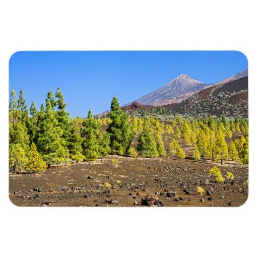 Paisaje del parque nacional de Teide en Tenerife Imanes Flexibles