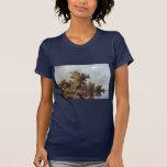 Paisaje del río con el transbordador de Ruysdael Camiseta