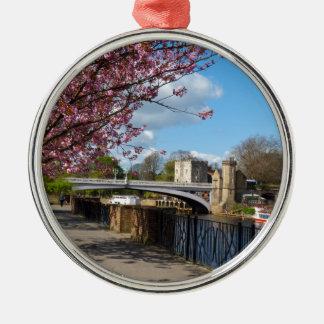 Paisaje del río de la ciudad de York Ornamento Para Reyes Magos