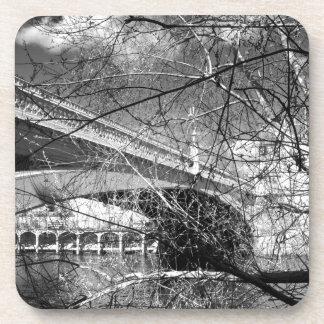 Paisaje del río de la ciudad de York Posavasos