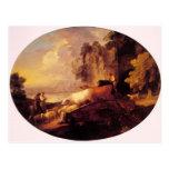 Paisaje del río de Thomas Gainsborough-, amantes r Tarjetas Postales