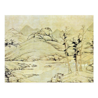 Paisaje del río en primavera por Lu Chih (el mejor Postal
