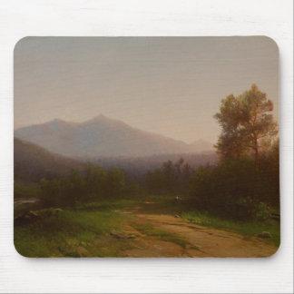 Paisaje del río Hudson, c.1860-5 (aceite en lona) Alfombrillas De Ratones