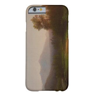 Paisaje del río Hudson c 1860-5 aceite en lona Funda De iPhone 6 Slim