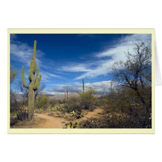 Paisaje del Saguaro Tarjeta De Felicitación