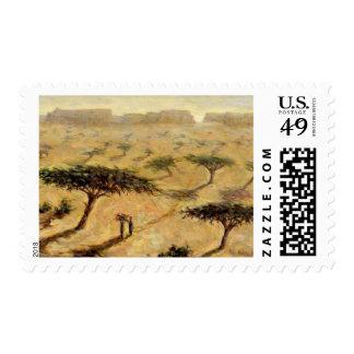 Paisaje del Sahel 2002 Estampilla