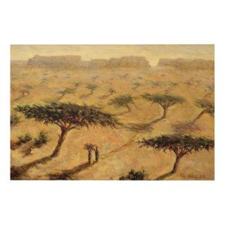 Paisaje del Sahel 2002 Cuadros De Madera