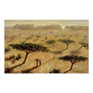 Paisaje del Sahel 2002 Póster