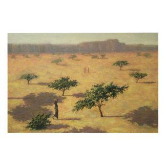 Paisaje del Sahel Malí 1991 Impresiones En Madera