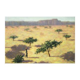 Paisaje del Sahel Malí 1991 Impresión En Lona