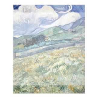 Paisaje del Santo-Remy de Vincent van Gogh Tarjeta Publicitaria